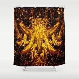 Deva Asura Gold Shower Curtain