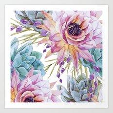 FLOWERS WATERCOLOR 19 Art Print