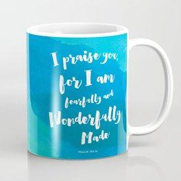 Wonderfully Made - Psalm 139:14 Coffee Mug