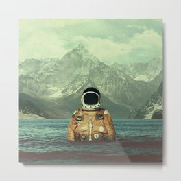 Glacier Spaceman Metal Print