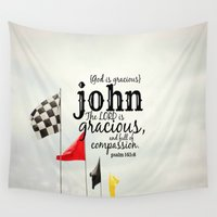 john green Wall Tapestries featuring John by KimberosePhotography