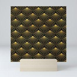 Singapore Art Deco Motif Pattern Mini Art Print