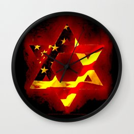 UNITED STATE OF ISREAL 011 Wall Clock