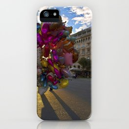 Urban Flowers Colorful Balloons at the Plaza iPhone Case