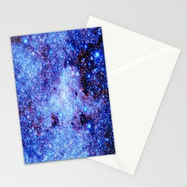 GAlaxy Periwinkle Stars Stationery Cards