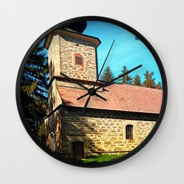 Maria Rast forest chapel 3 Wall Clock