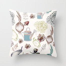 Cozy kitchen garden Throw Pillow
