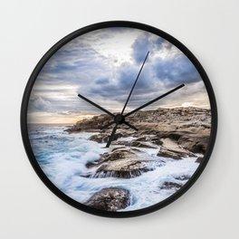 Crashing Waves At Prospect, Nova Scotia #3 Wall Clock