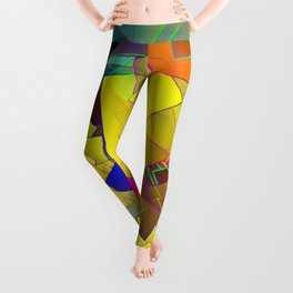 Reminiscence of a patchy summer ... Leggings