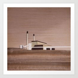 Cockenzie Power Station | Marquetry Art Print