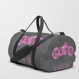 Wild Girl Floral Pink Motorbike Duffle Bag