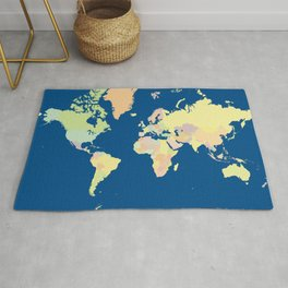 World Countries Map Rug