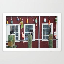 Maine Bouys Art Print