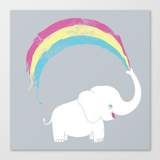 Elephant Painting! Canvas Print