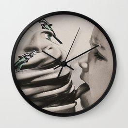 Ski ice cream Wall Clock
