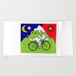The 1942 Bicycle Lsd Beach Towel
