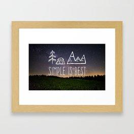 Simple Is Best Framed Art Print