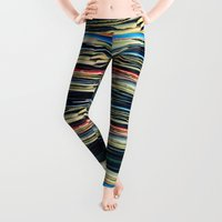 people Leggings featuring put your records on by Bianca Green
