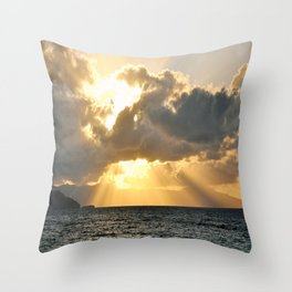 ...And There Was Light Throw Pillow