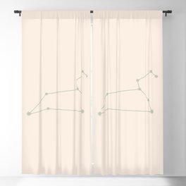 Leo Zodiac Constellation Sage Blackout Curtain