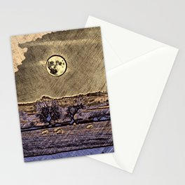 Moon over Debdale Stationery Cards