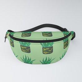 Snake plant pattern - Pastel Green Fanny Pack
