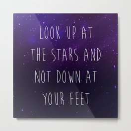 Look Up At The Stars Motivational Quote Metal Print