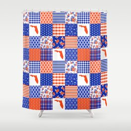 Florida University gators swamp life varsity team spirit college football quilted pattern gifts Shower Curtain