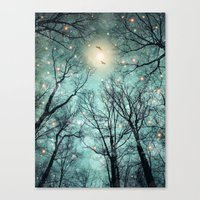 mint Canvas Prints featuring Nature Blazes Before Your Eyes (Mint Embers) by soaring anchor designs