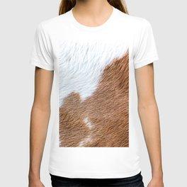 Cow Hide Print Pattern T-shirt