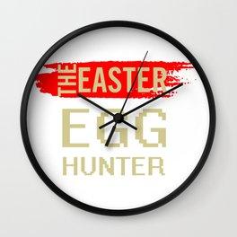 The Easter Egg Hunter Wall Clock