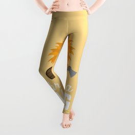 Brave like a Viking T-Shirt for all Ages Dzbpw Leggings