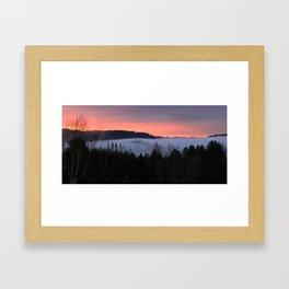 February Morning Sunrise Framed Art Print