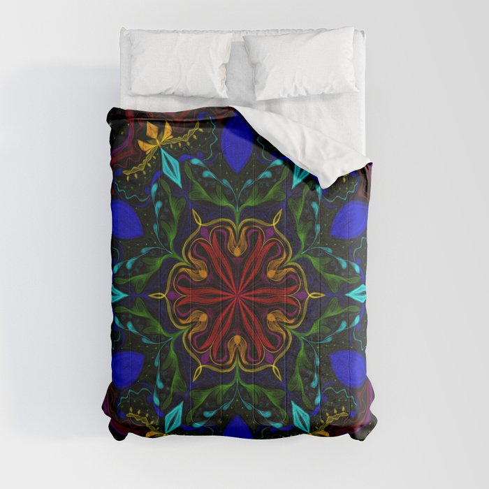 Carnival of Twisted Rainbows Comforters