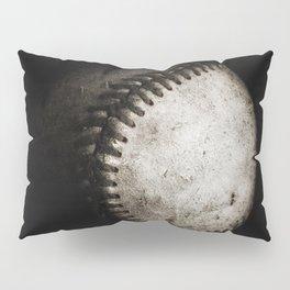 Battered Baseball in Black and White Pillow Sham