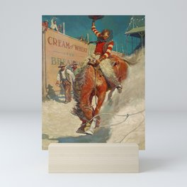 "N C Wyeth Western Painting ""The Rodeo"" Mini Art Print"