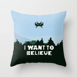 i want to believe. Throw Pillow