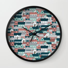 A lot of Houses Wall Clock