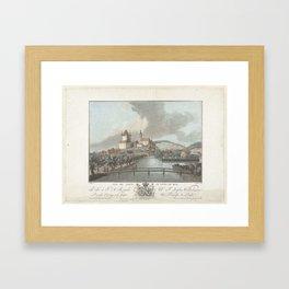 Gezicht op Thun, Jean François Janinet, Claude Joseph Vernet, M. Graff, 1762 - 1785 Framed Art Print