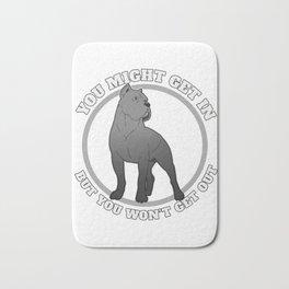 Mastiff Gift Italian And English Mastiff You Might Get In Print Bath Mat