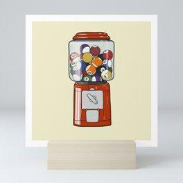 Billiard Gumball Machine Mini Art Print