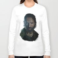 rick grimes Long Sleeve T-shirts featuring The Walking Dead - Rick Grimes by firatbilal