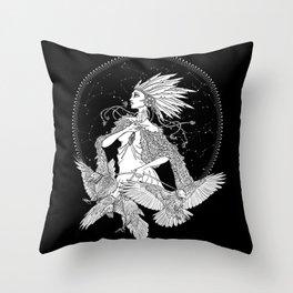 The Raveness Throw Pillow