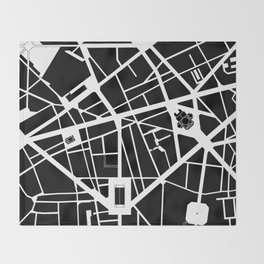 Madeleine-Opera-Vendome. Paris Throw Blanket