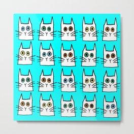 cat eyes- aqua Metal Print