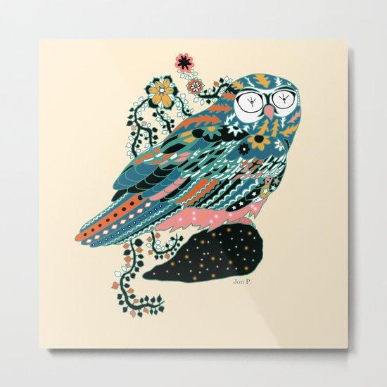 googly eyes owl Metal Print