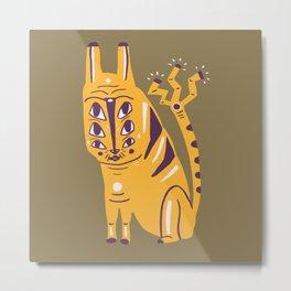 Electric Cat Metal Print