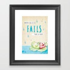 Frog Nap Framed Art Print