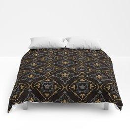 Fleur de Lis & Crown Pattern Comforters