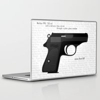 bond Laptop & iPad Skins featuring Bond PPK by AngoldArts